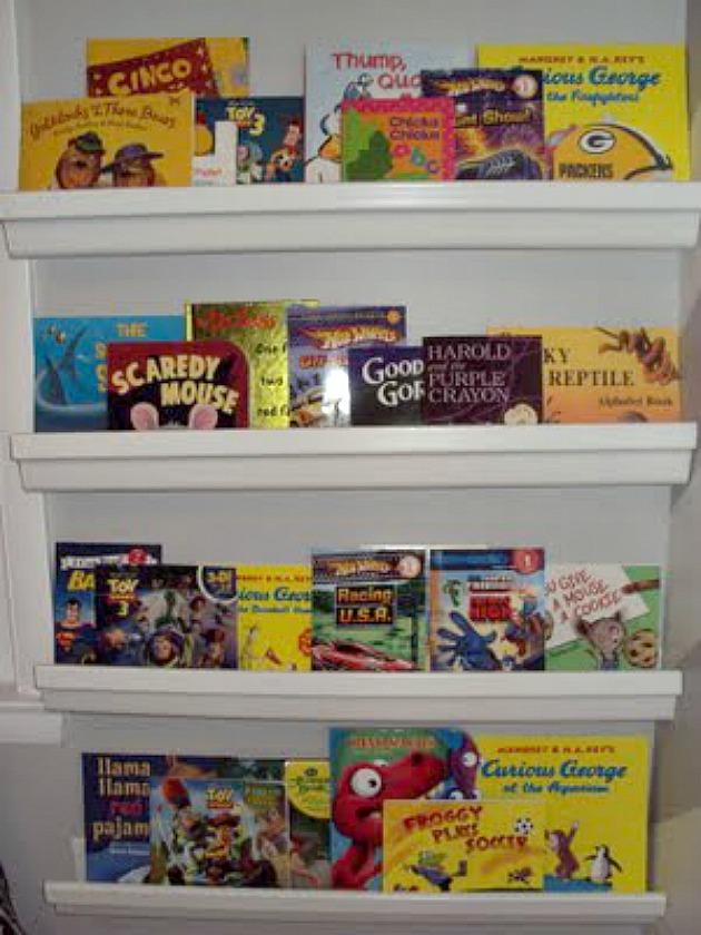 Thrifty Thursday: Bookshelf Wall @ Bargain Price