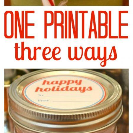 Printables Party Holiday Home Organization Printables