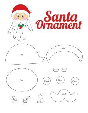 Christmas Crafts for Kids: Handprint Ornament with printable pattern