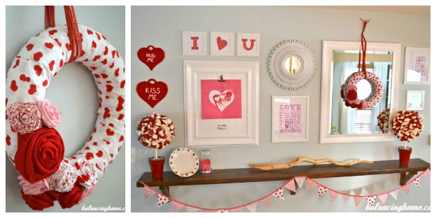 Valentine's Day Wreath & Mantle