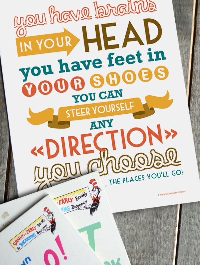 Dr. Seuss Printable – You Have Brains In Your Head