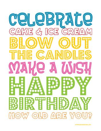 Birthday Treat (printable)