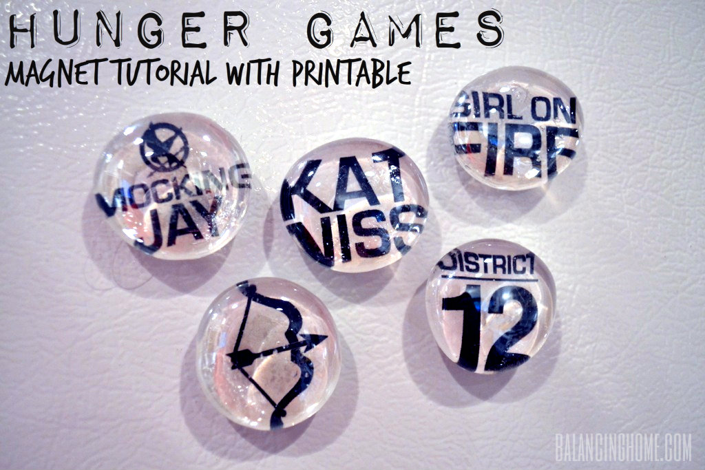 Hunger Game Magnets With Printable & Other Ideas