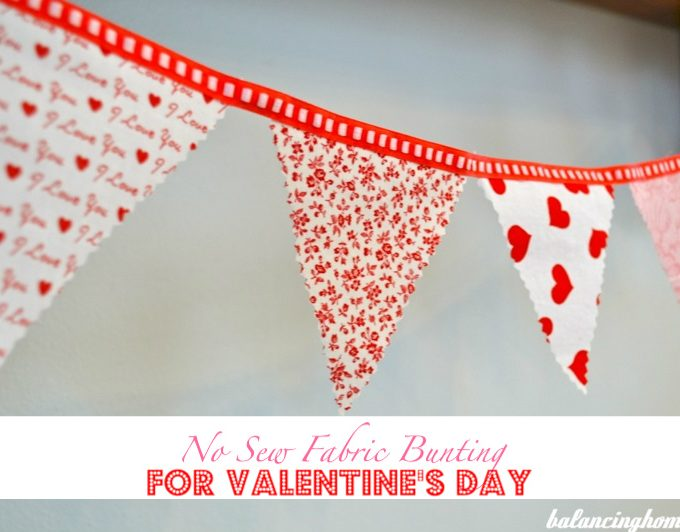 No Sew Bunting for V-Day