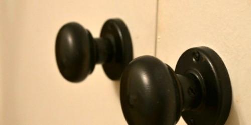 Spray Painted Closet Door Handle