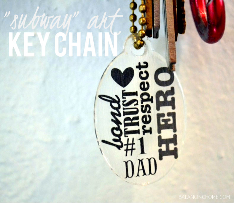 Mod Podge Key Chain w/Podgeables & Rub-on-Transfers