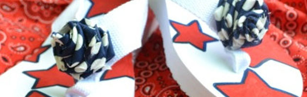DIY Fourth of July Flip Flops