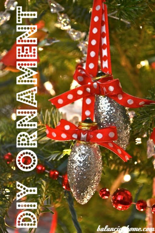 Upcycled Light Bulb Ornament