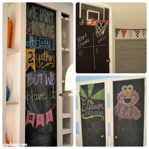 we also updated a blah moment in the kitchen with chalkboard paint