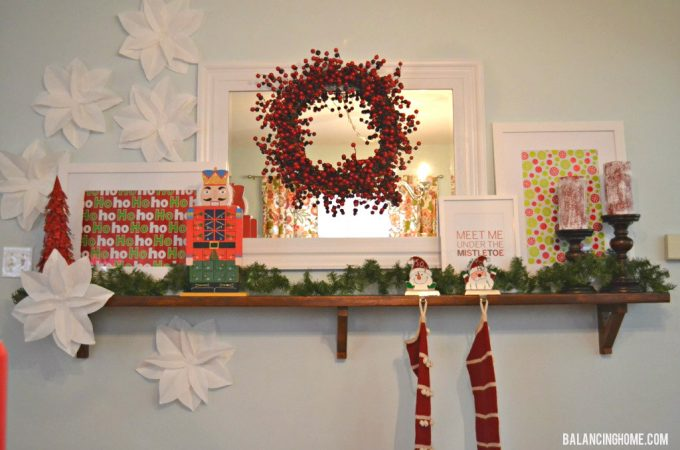 Simple Affordable Christmas Mantle