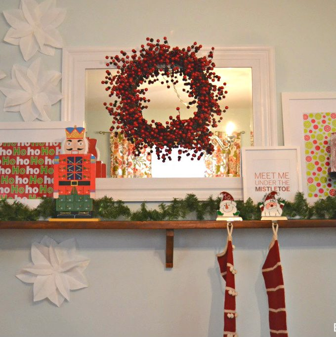 A Simple & Affordable Christmas Mantle