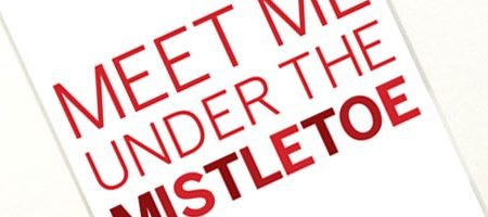 Meet Me Under the Mistletoe Printable & The Holiday Spirit