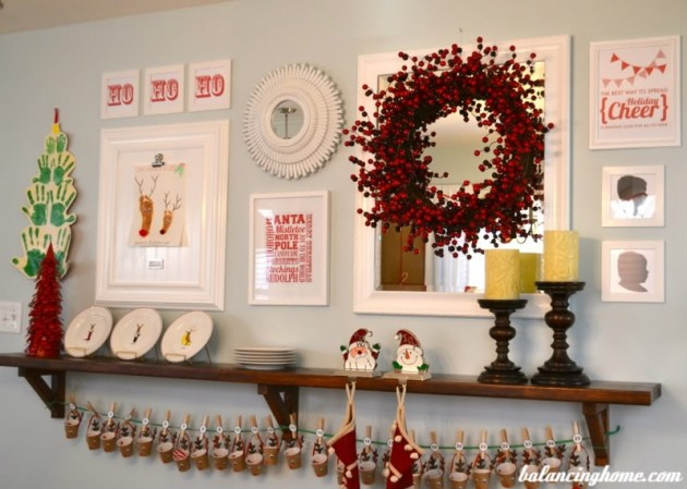 Ever Changing Dining Room Shelf- Christmas Shelf