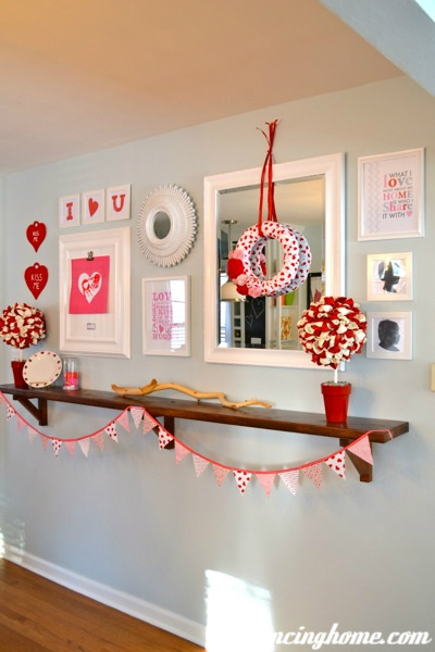 Ever Changing Dining Room Shelf- Valentine Wall