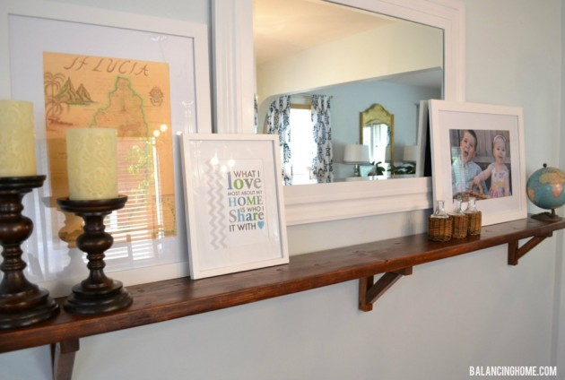 Ever Changing Dining Room Shelf