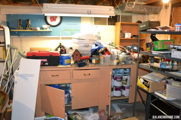 Basement Organization: Craft Room, Work Room using #TRINITYproducts #spon
