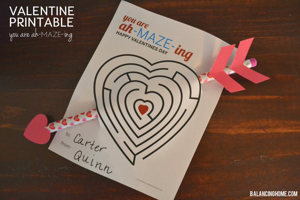 Schön Valentine Printable For The Little Ones   Balancing Home With Megan Bray