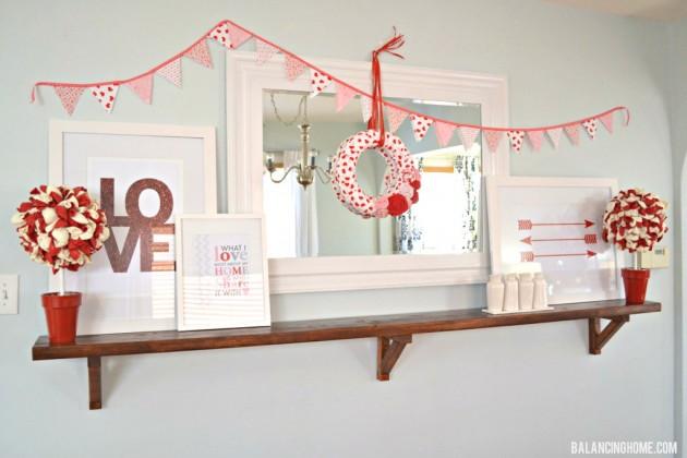 Ever Changing Dining Room Shelf- Valentine Shelf