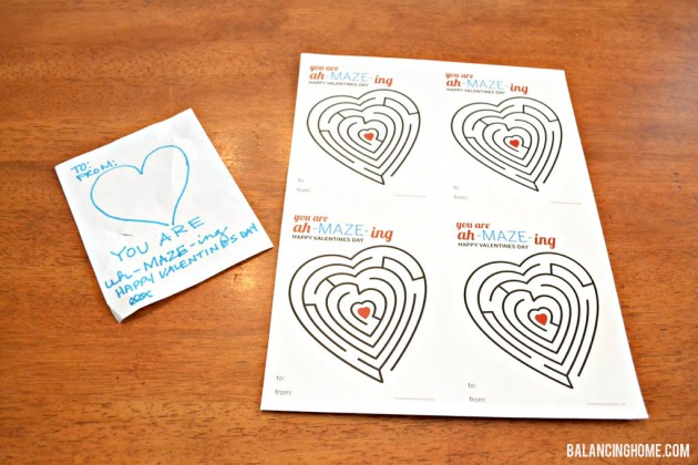 #Printable #Valentine Non Candy with #Arrow Pencil - 4 to a page