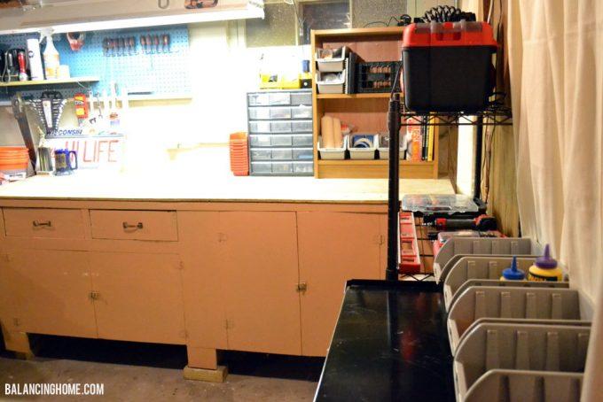 Basement Organization: Craft Room, Work Room using #TRINITYproducts #spon