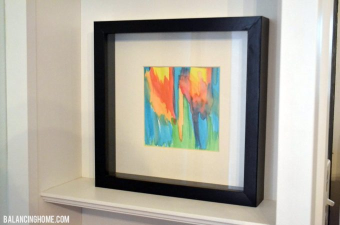 DIY Watercolor Shelf Vignette