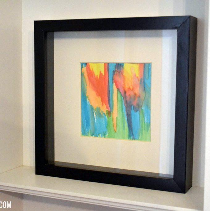 DIY Watercolor Shelf Vignette