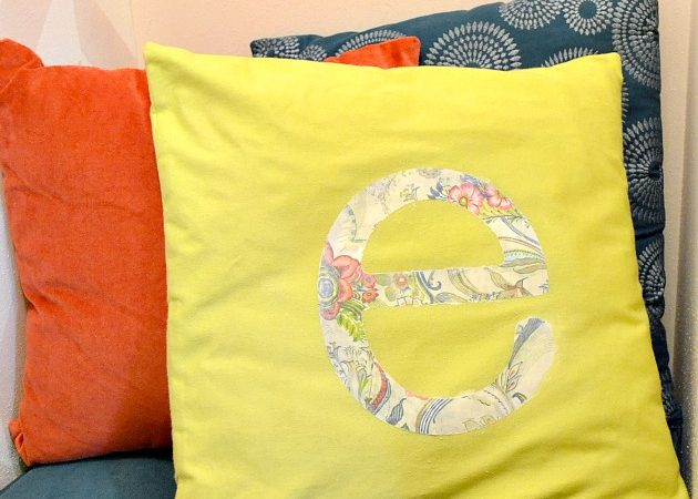 Pillow for E's Room Using Mod Podge Photo Tranfer