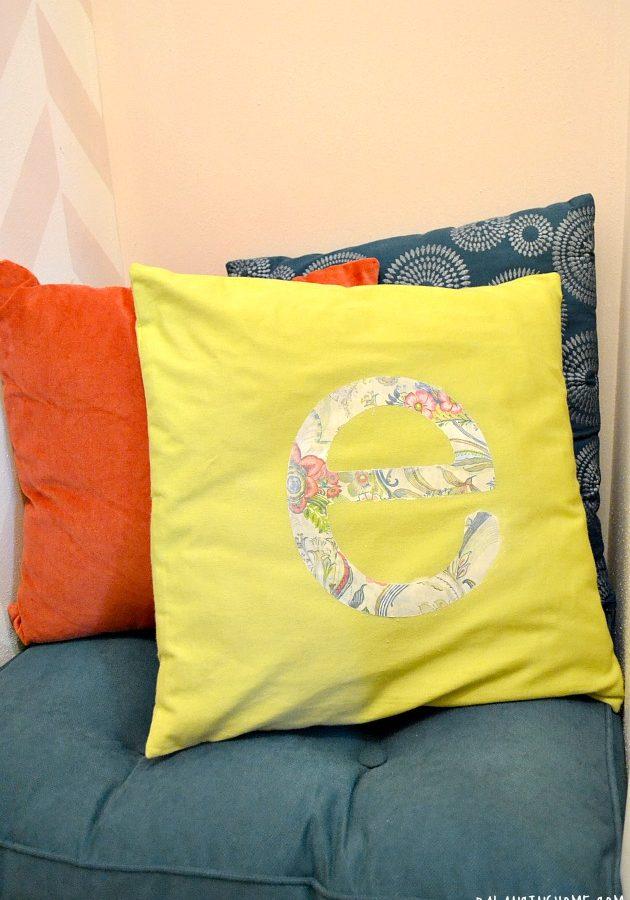 Pillow for E's Room Using Mod Podge Photo Tranfer