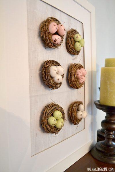 Spring Mantle With Nest Specimen Art