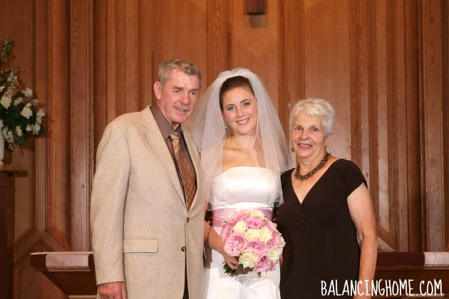 Wedding Photo With Grandparents