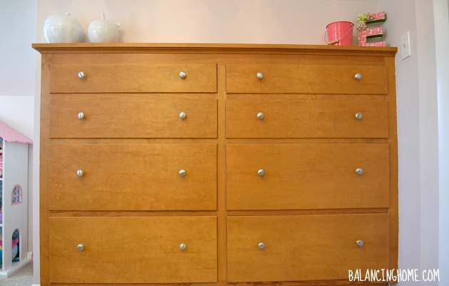 dresser update- big girl room
