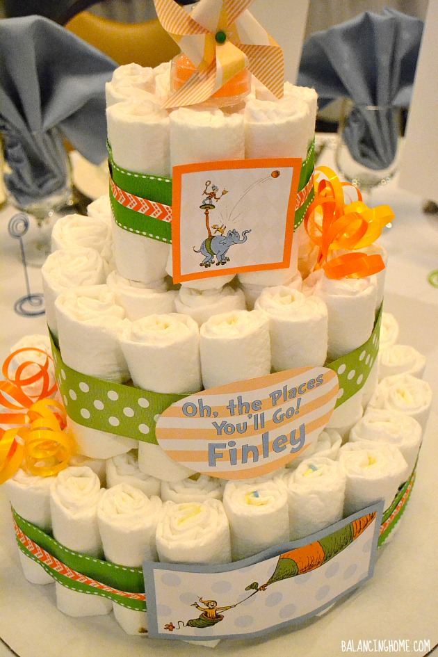Diaper Cake Centerpieces For A Baby Shower