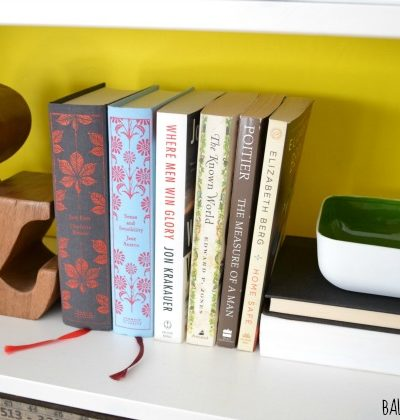 Dressing Up a Bookshelf Without Committing