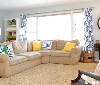 Spruced Up Living Room & New Arrangement