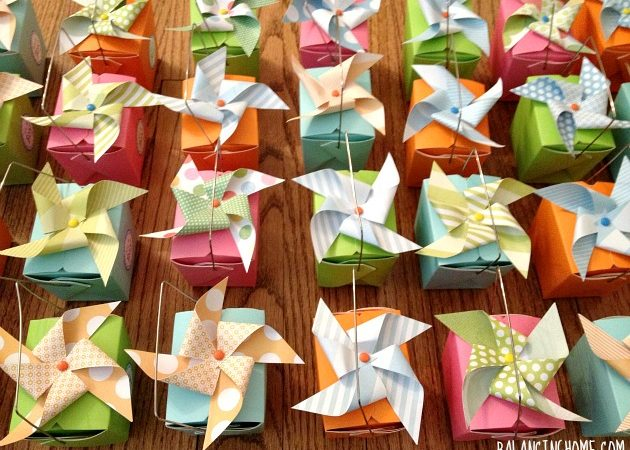 Oh, The Places You Will Go Baby Shower & Pinwheel Favor Boxes