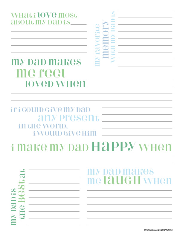 Sweet image intended for dad questionnaire printable