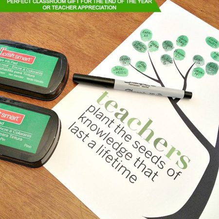 Classroom Fingerprint Tree: Perfect Classroom Gift for Teacher Appreciation or the End of the Year