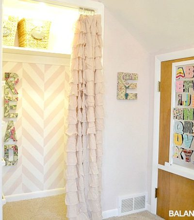 Big Girl Room Doors & DIY Magnet Board