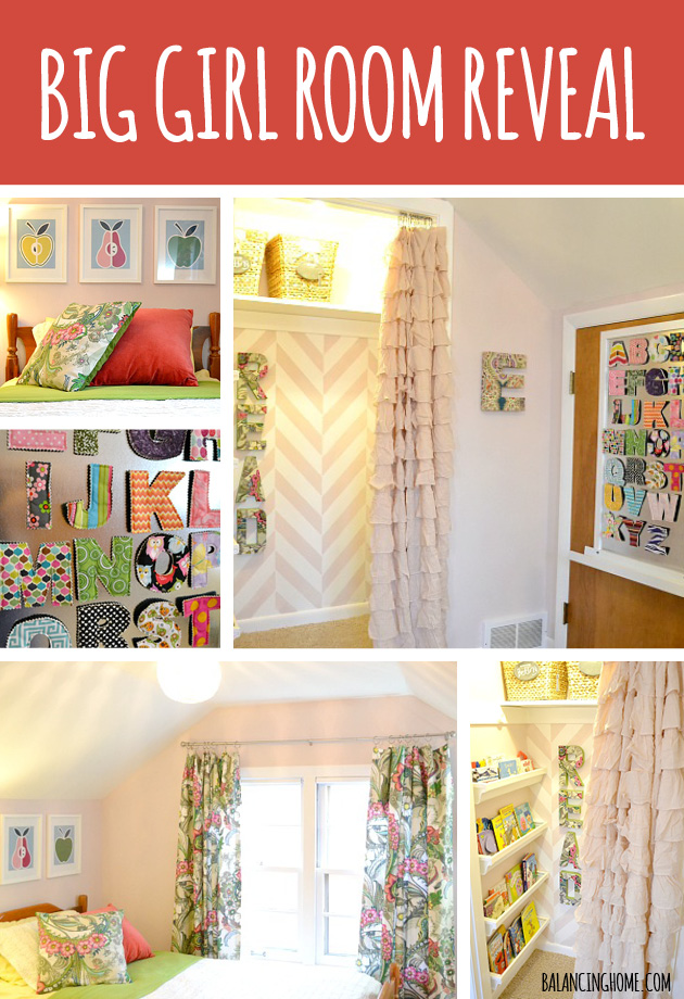 Big Girl Room Reveal- Full of simple and affordable ideas