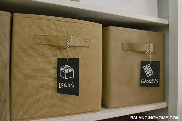 Storage Bins With Chalkboard Labels Sevenstonesinccom