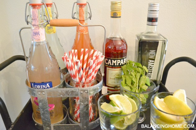 "A beverage station + ""The Lorina"" A fresh summer drink"