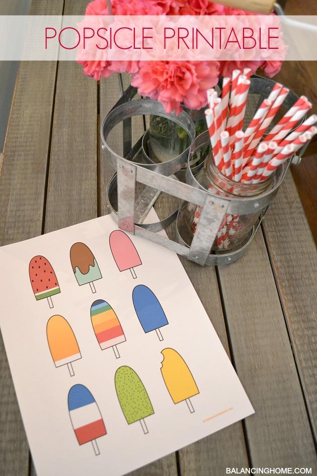 popsicle printable