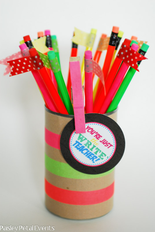 Teacher Pencil Gift Printable