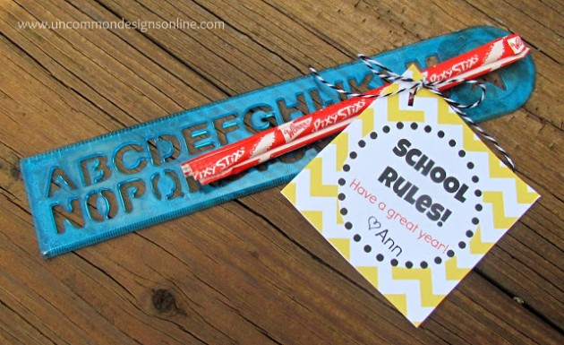 School Rules Treat Printable