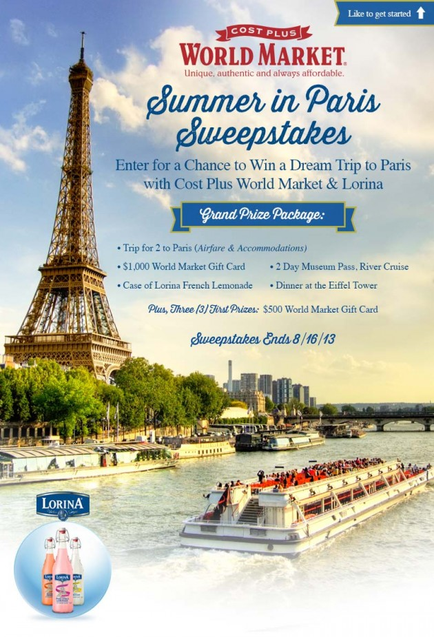 Lorina + World Market Sweepstakes #SummerinParis