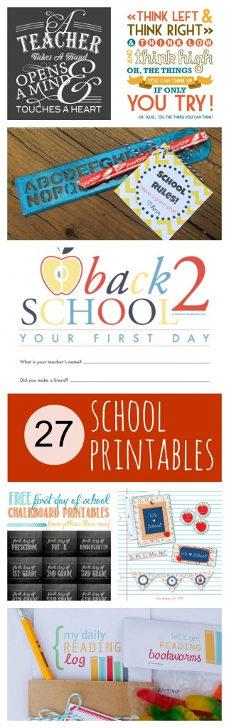 27 Awesome School Printables