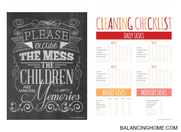Cleaning Tips & Printables