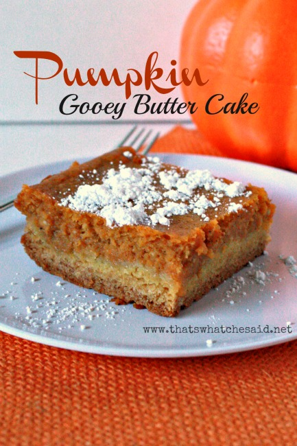 Pumpkin Gooey Butter Cake from That's What Che Said