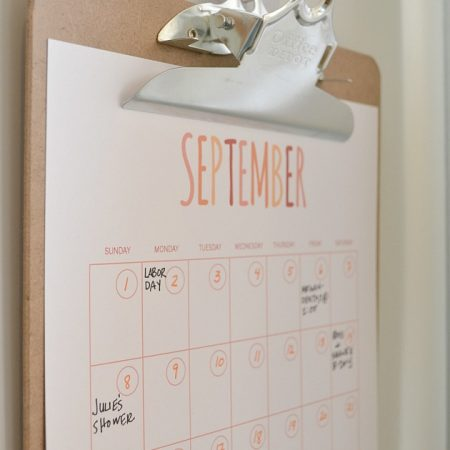 Printable Calendar Hanging With Gecko Hooks