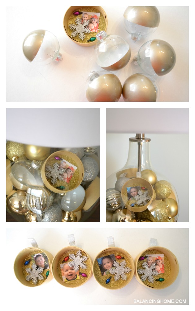 SILVER AND GOLD LAMP